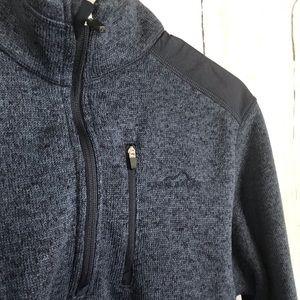 EDDIE BAUER blue & black pullover jacket